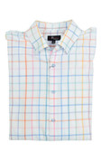 Jon Randall White Multi Check Sportshirt