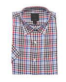 Fusion Blue/Red Check Short Sleeve Sportshirt