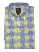 Fusion Lime/Navy Plaid Short Sleeve Sportshirt