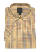 Fusion Gold Multi Mini Check Short Sleeve Sportshirt