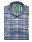 Forsyth of Canada Classic Fit Non-Iron Short Sleeve Multi Check Sport Shirt 8311S-DNM