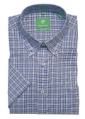 Forsyth of Canada Classic Fit Non-Iron Short Sleeve Grid Check Sport Shirt 8315S-STL