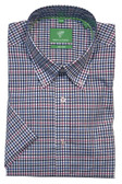 Forsyth of Canada Classic Fit Non-Iron Short Sleeve Mini Check Sport Shirt 8328S-SOR