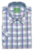 Forsyth of Canada Classic Fit Non-Iron Short Sleeve Multi Check Sport Shirt 8331S-PLM