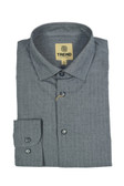 Trend by Fusion Charcoal Geo Stretch Modern Fit Sportshirt