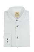 Trend by Fusion White Jacquard Stretch Modern Fit Sportshirt