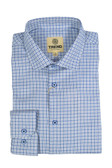 Trend by Fusion Royal/White Textured Stretch Check Modern Fit Sportshirt