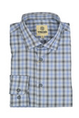 Trend by Fusion Blue/Black Ombre Jacquard Modern Fit Sportshirt