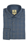 Trend by Fusion Blue/Tan Jasper Grid Modern Fit Sportshirt