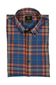 Navy/Orange Multi Plaid