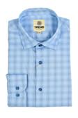Trend by Fusion Blue Micro Grid Sportshirt