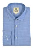 Trend by Fusion Blue Medallion Jacquard Sportshirt
