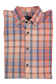 Jon Randall Orange Dobby Check Plaid Sportshirt