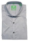 Forsyth of Canada Classic Fit Non-Iron Short Sleeve Mini Pattern Sport Shirt 8479S-GRY