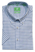Forsyth of Canada Classic Fit Non-Iron Short Sleeve Mini Check Sport Shirt 8476S-SRF