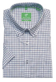 Forsyth of Canada Classic Fit Non-Iron Short Sleeve Mini Check Sport Shirt 8478S-STL
