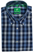 Forsyth of Canada Classic Fit Non-Iron Short Sleeve Multi Grid Sport Shirt 7943S-BBR