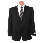 Petrocelli by Eisenberg Wool Blend Solid Black Big Size Suit Coat