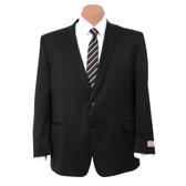 Petrocelli by Eisenberg Wool Blend Solid Black Big Size Suit Coat