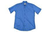 Trend by Fusion Royal Oxford Anchor Short Sleeve Stretch Sportshirt