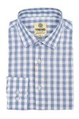 Trend by Fusion Indigo/Purple Check Stretch Modern Fit Sportshirt