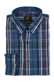 FX Fusion Purple/Blue Plaid Sportshirt