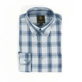 FX Fusion Blue/Grey Fashion Plaid Sportshirt - D1306