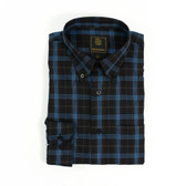 FX Fusion Black/Brown/Blue Multi Plaid Sportshirt - D1308