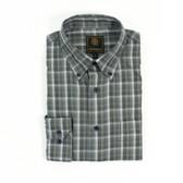 FX Fusion Olive/Grey Multi Plaid Sportshirt - D1315