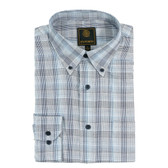 Fusion Navy/Blue Glen Plaid Big Size Sportshirt