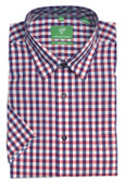 Forsyth of Canada Classic Fit Non-Iron Short Sleeve Multi Check Sport Shirt 8576S-CHY