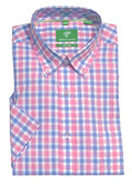 Forsyth of Canada Classic Fit Non-Iron Short Sleeve Multi Check Sport Shirt 8578S-CTN