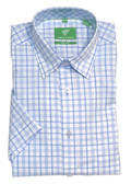 Forsyth of Canada Classic Fit Non-Iron Short Sleeve Multi Check Sport Shirt 8587S-SMO