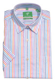 Forsyth of Canada Classic Fit Non-Iron Short Sleeve Multi Stripe Sport Shirt 8595S-MUL
