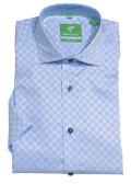 Forsyth of Canada Classic Fit Non-Iron Short Sleeve Solid Tonal Sport Shirt 8600S-ICE