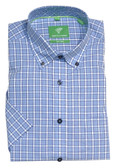 Forsyth of Canada Classic Fit Non-Iron Short Sleeve Multi Check Sport Shirt 8575S-DNM