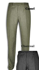 Austin Reed Self Sizer Wool Blend Flat Front Big Size Dress Pant