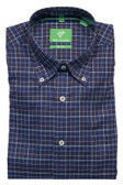 Forsyth of Canada Classic Fit Non-Iron Long Sleeve Grid Check Sport Shirt 8379-IND