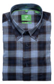 Forsyth of Canada Classic Fit Non-Iron Long Sleeve Multi Plaid Sport Shirt 8381-OXF