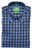 Forsyth of Canada Classic Fit Non-Iron Long Sleeve Grid Check Sport Shirt 8382-CNF