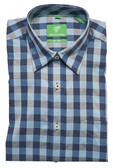 Forsyth of Canada Classic Fit Non-Iron Long Sleeve Grid Check Sport Shirt 8229-TEL