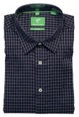 Forsyth of Canada Classic Fit Non-Iron Long Sleeve Grid Check Sport Shirt 8387-MID