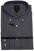 Fusion Orange and Blue Check Tall Size Sportshirt
