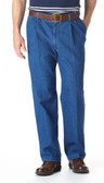 Haggar Work To Weekend Denim Pleated Front Big Size Men's Pants