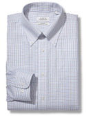 Enro Non-Iron Button Down Collar Tattersal Check Tall Size Dress Shirt