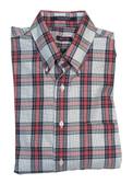Overton Non-Iron Button Down Collar Multi Plaid Sportshirt