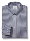 Enro Non-Iron Button Down Collar Bengal Stripe Dress Shirt