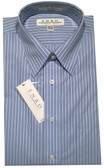 Enro Non-Iron Regular Collar Blue Stripe Dress Shirt