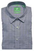 Forsyth of Canada Classic Fit Non-Iron Long Sleeve Mini Check Sport Shirt 8388-AZU
