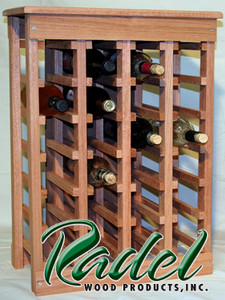 24-Bottle Wine Rack (Oak or Alder)